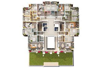 3D Етажни планчета - Жилищна сграда